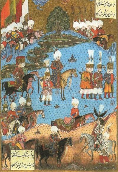 Султан Сулейман I Великолепный во главе войска