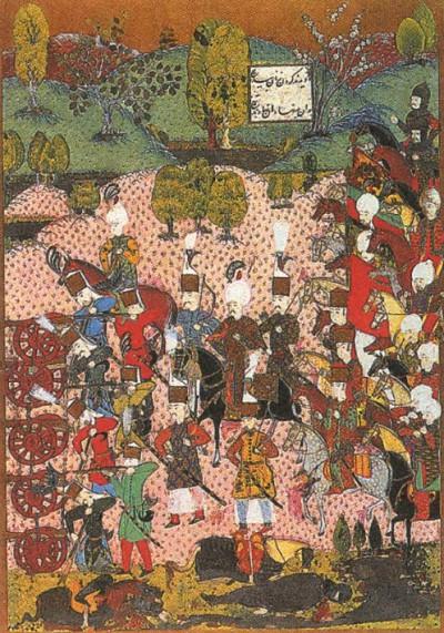Битва при Мохаче. 1526 г. Турецкая миниатюра. XVI в.