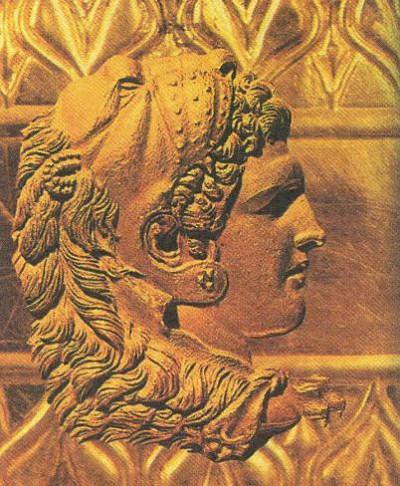 Изображение Александра Македонского в виде древнегреческого бога Геракла