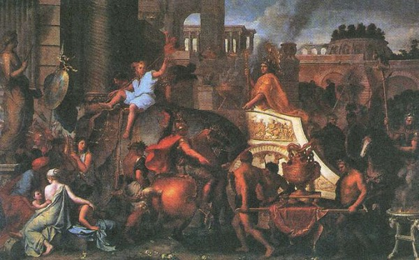 Шарль Лебрен. Въезд Александра Великого в Вавилон
