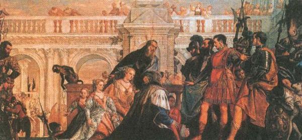 Семья Дария III перед Александром Македонским