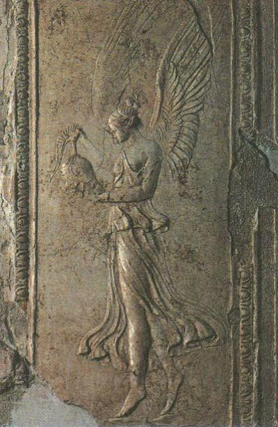 Изображение богини победы Виктории, особо почитавшейся римлянами