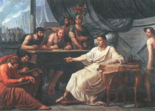 Цезар диктует свои сочинения