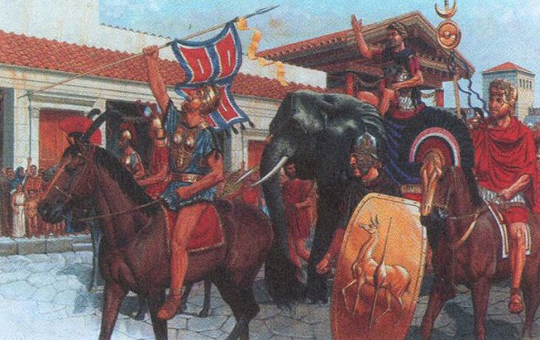 Ганнибал вступает в Капую после победы при Каннах