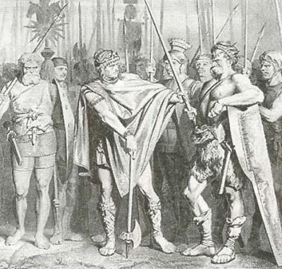 Хлодвиг Меровинг и его воины