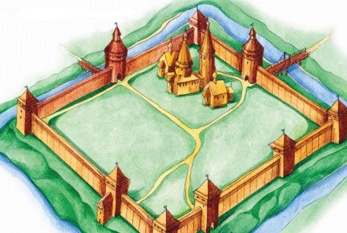 Древний укрепленный город.