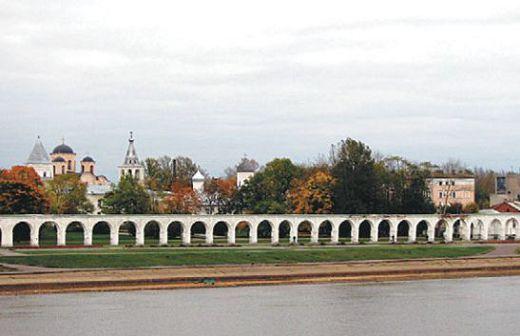 Ярославово дворище на правом берегу Волхова
