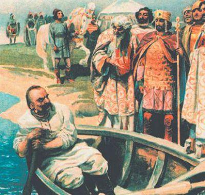 Встреча киевского князя Святослава с императором Иоанном Цимисхием