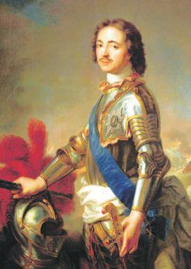 Петр I с первым российским орденом Святого Андрея Первозванного