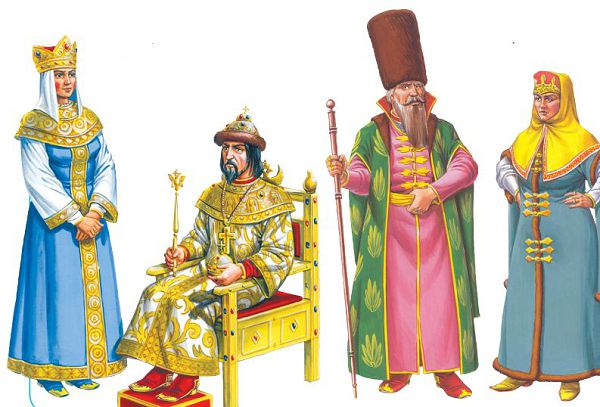 Царица, царь, боярин и боярыня