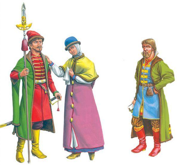 Дворянин, дворянка, купец
