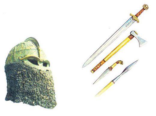 Варяжское оружие и шлем