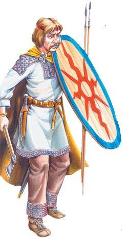 Древнеславянский воин.