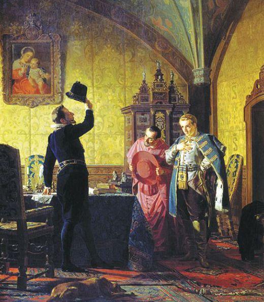 Лжедмитрий I присягает польскому королю Сигизмунду III