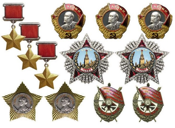 Главные награды Жукова за 1939-1945 гг.