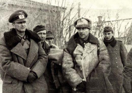 Паулюс и пленные генералы в Сталинграде