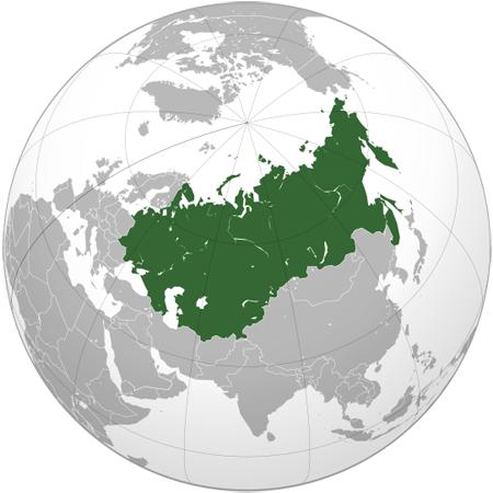 Карта СССР с 1945 года.