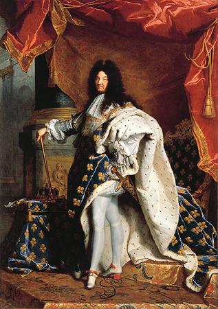 Людовик XIV, король-солнце, портрет работы Иасента Риго