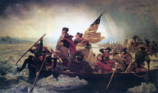 25 декабря 1776 г. Вашингтон форсирует реку Делавер