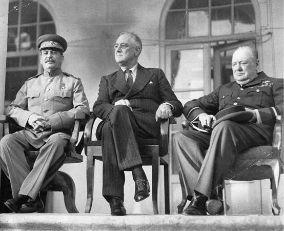 Большая Тройка»: Иосиф Сталин, Франклин Рузвельт и Уинстон Черчилль